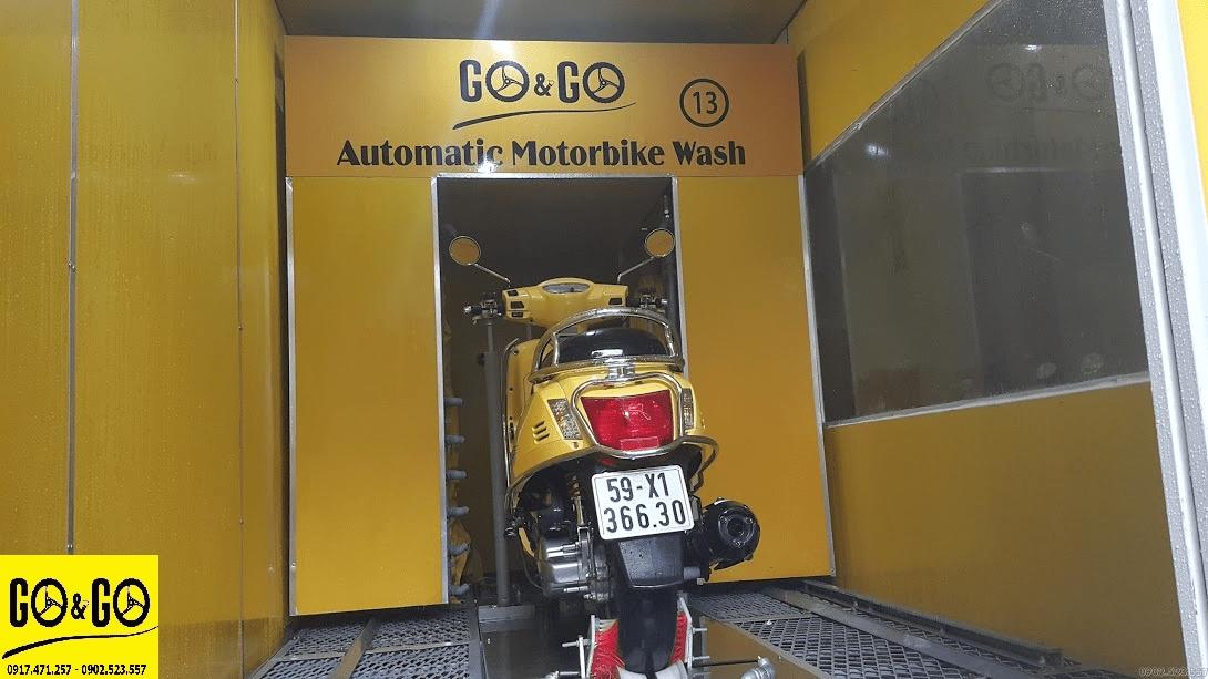mô hình rửa xe máy hiện đại